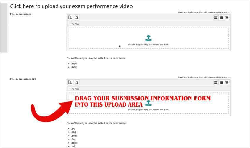Trinity Digital Exam Steps